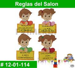 Reglas del Salon MATERIAL DIDACTICO FOAMY  INTQUIETOYS PRIMERDI