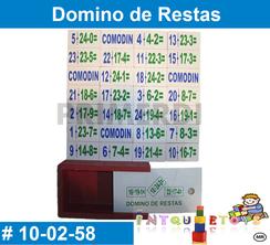 Domino de  Restas MATERIAL DIDACTICO MADERA INTQUIETOYS PRIMERDI
