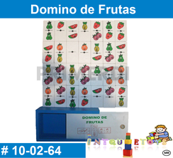 Domino de Frutas MATERIAL DIDACTICO MADERA INTQUIETOYS PRIMERDI