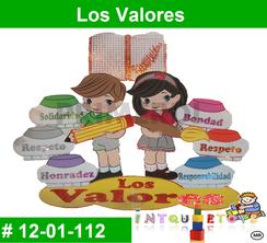 Los Valores MATERIAL DIDACTICO FOAMY  INTQUIETOYS PRIMERDI