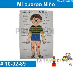 Mi cuerpo Niño MATERIAL DIDACTICO MADERA INTQUIETOYS PRIMERDI