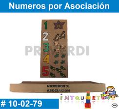 Numeros por Asociación MATERIAL DIDACTICO MADERA INTQUIETOYS PRIMERDI
