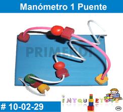 Manometro 1 puente MATERIAL DIDACTICO MADERA INTQUIETOYS PRIMERDI