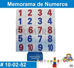 Memorama de Numeros MATERIAL DIDACTICO MADERA INTQUIETOYS PRIMERDI