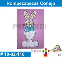 Rompezabezas Conejo MATERIAL DIDACTICO MADERA INTQUIETOYS PRIMERDI