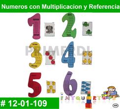 Numeros con multiplicacion y Refencia MATERIAL DIDACTICO FOAMY  INTQUIETOYS PRIMERDI