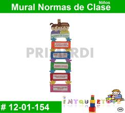 Mural Normas de Clase MATERIAL DIDACTICO FOAMY  INTQUIETOYS PRIMERDI