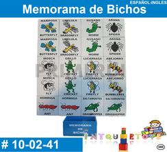 Memorama de Bichos MATERIAL DIDACTICO MADERA INTQUIETOYS PRIMERDI