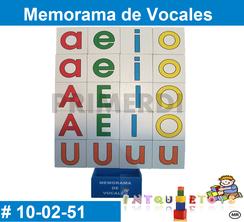 Memorama de Vocales MATERIAL DIDACTICO MADERA INTQUIETOYS PRIMERDI