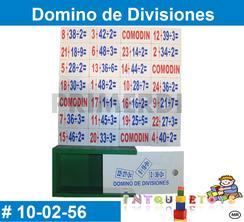 Domino de Divisiones MATERIAL DIDACTICO MADERA INTQUIETOYS PRIMERDI