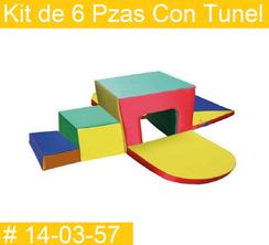 Kit de 6 Pzas Con Tunel Estimulacion Temprana  PRIMERDI INTQUIETOYS