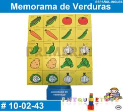 Memorama de Verduras MATERIAL DIDACTICO MADERA INTQUIETOYS PRIMERDI