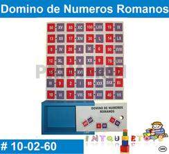 Domino de Numeros Romanos MATERIAL DIDACTICO MADERA INTQUIETOYS PRIMERDI