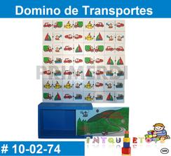 Domino de Transportes MATERIAL DIDACTICO MADERA INTQUIETOYS PRIMERDI