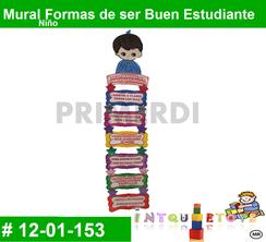 Mural Formas de ser Buen Estudiante Niño MATERIAL DIDACTICO FOAMY  INTQUIETOYS PRIMERDI