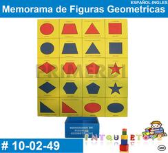 Memorama de Figuras Geometricas MATERIAL DIDACTICO MADERA INTQUIETOYS PRIMERDI