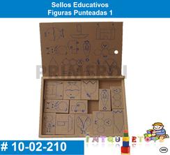 Sellos Educativos Figuras Punteadas 1 MATERIAL DIDACTICO MADERA INTQUIETOYS PRIMERDI