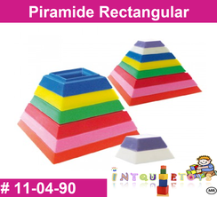 Piramide Rectangular MATERIAL DIDACTICO PLASTICO INTQUIETOYS PRIMERDI