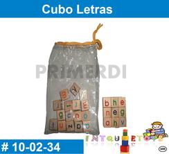 Cubo Letras MATERIAL DIDACTICO MADERA INTQUIETOYS PRIMERDI