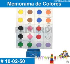 Memorama de Colores MATERIAL DIDACTICO MADERA INTQUIETOYS PRIMERDI