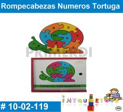 Rompecabezas Numeros Tortuga MATERIAL DIDACTICO MADERA INTQUIETOYS PRIMERDI