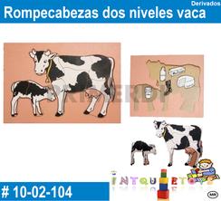 Rompecabezas dos niveles vaca MATERIAL DIDACTICO MADERA INTQUIETOYS PRIMERDI