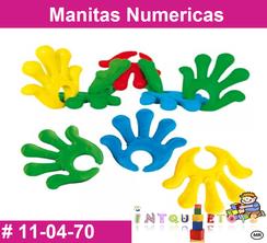 Manitas Numericas MATERIAL DIDACTICO PLASTICO INTQUIETOYS PRIMERDI
