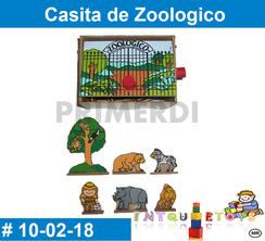 Casita de zoologico de madera juguete didactico