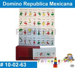 Domino Republica Mexicana MATERIAL DIDACTICO MADERA INTQUIETOYS PRIMERDI