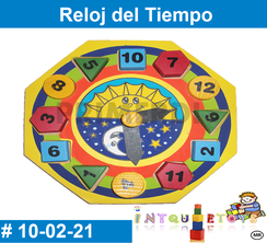 Reloj del tiempo juguete de madera MATERIAL DIDACTICO MADERA INTQUIETOYS PRIMERDI