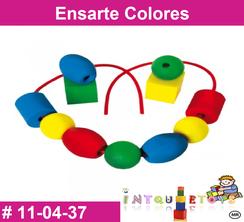 Ensarte Colores MATERIAL DIDACTICO PLASTICO INTQUIETOYS PRIMERDI
