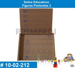 Sellos Educativos Figuras Punteadas 3 MATERIAL DIDACTICO MADERA INTQUIETOYS PRIMERDI