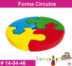 Forma Circulos MATERIAL DIDACTICO PLASTICO INTQUIETOYS PRIMERDI
