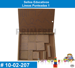 Sellos Educativos Lineas Punteadas 1 MATERIAL DIDACTICO MADERA INTQUIETOYS PRIMERDI