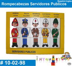 Rompecabezas Servidores Publicos MATERIAL DIDACTICO MADERA INTQUIETOYS PRIMERDI