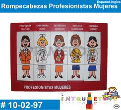 Rompecabezas Profesionistas Mujeres MATERIAL DIDACTICO MADERA INTQUIETOYS PRIMERDI