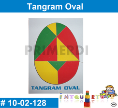 Tangram Oval Geometricas MATERIAL DIDACTICO MADERA INTQUIETOYS PRIMERDI