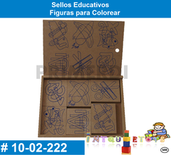 Sellos Educativos Figuras para Colorear MATERIAL DIDACTICO MADERA INTQUIETOYS PRIMERDI