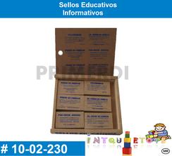 Sellos Educativos Informativos MATERIAL DIDACTICO MADERA INTQUIETOYS PRIMERDI