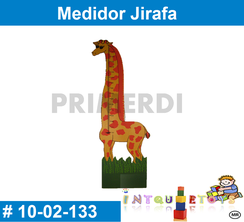 medidor jirafa de madera mateial didactico de madera intquietoys primerdi