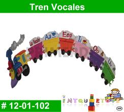 Tren Vocales MATERIAL DIDACTICO FOAMY  INTQUIETOYS PRIMERDI
