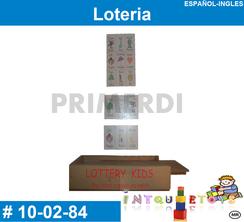 Loteria Ingles Español MATERIAL DIDACTICO MADERA INTQUIETOYS PRIMERDI