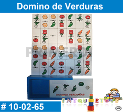 Domino de Verduras MATERIAL DIDACTICO MADERA INTQUIETOYS PRIMERDI