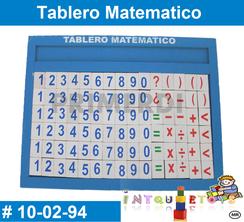 Tablero Matematico MATERIAL DIDACTICO MADERA INTQUIETOYS PRIMERDI
