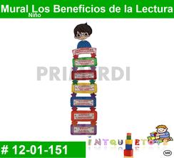 Mural Los Beneficios de la Lectura Niño  MATERIAL DIDACTICO FOAMY  INTQUIETOYS PRIMERDI