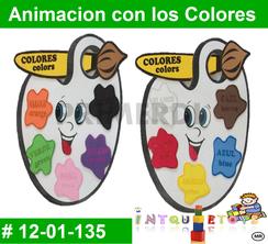Animacion con los Colores MATERIAL DIDACTICO FOAMY  INTQUIETOYS PRIMERDI