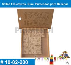 Sello Educativo Numeros Punteados para Rellenar MATERIAL DIDACTICO MADERA INTQUIETOYS PRIMERDI