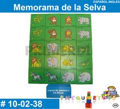 Memorama de la Selva MATERIAL DIDACTICO MADERA INTQUIETOYS PRIMERDI