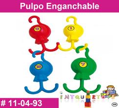 Pulpo Enganchable MATERIAL DIDACTICO PLASTICO INTQUIETOYS PRIMERDI