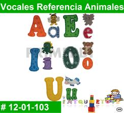 Vocales Referencia Animales MATERIAL DIDACTICO FOAMY  INTQUIETOYS PRIMERDI
